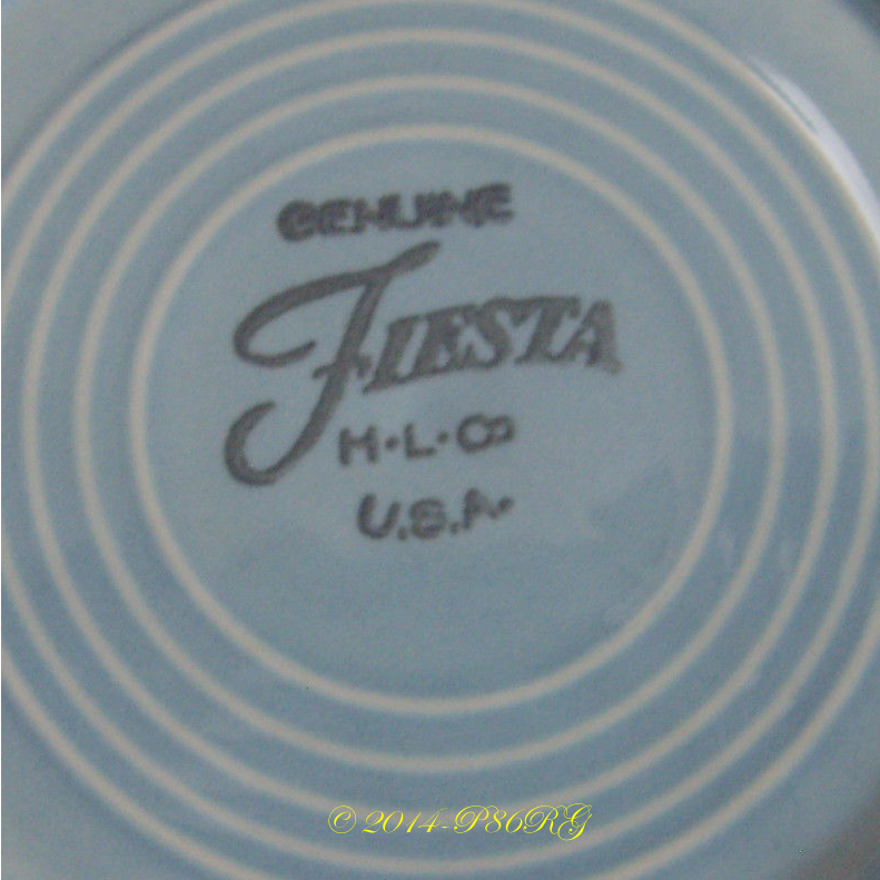 Early Post 86 Fiesta® back stamp